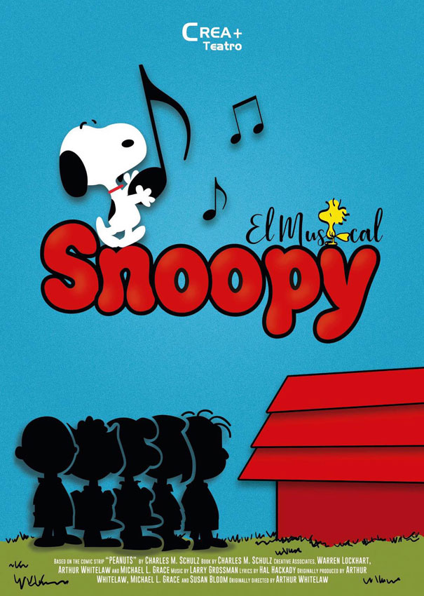 CARTEL SNOOPY EL MUSICAL b