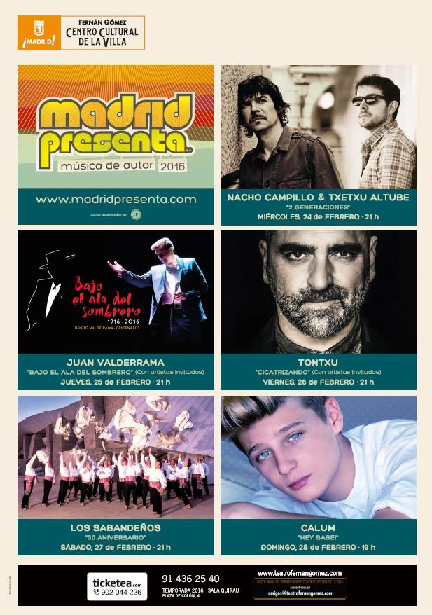 MADRID PRESENTA CARTEL