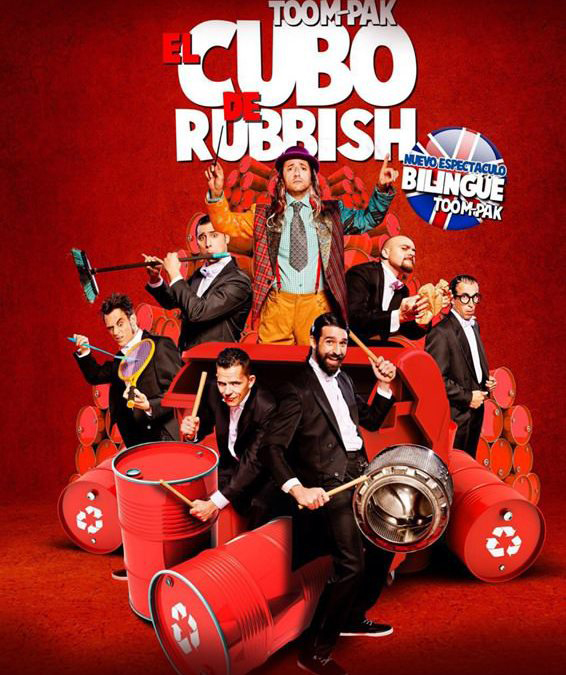 cartel Cubo de Rubbish cart